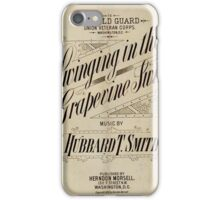 Swinging in the Grapevine Swing iPhone Case/Skin