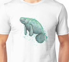 Mossy Manatee ~ Watercolor Unisex T-Shirt