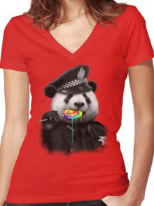 LOLLYPOP COP Women's Fitted V-Neck T-Shirt