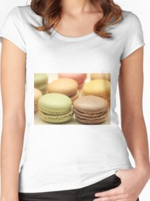 """Macarons by """"Provence Provence"""" Women's Fitted Scoop T-Shirt"""