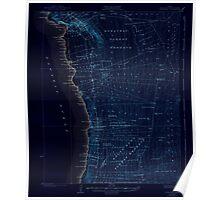 USGS TOPO Map Hawaii HI Honaunau 349830 1928 62500 Inverted Poster