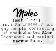Malec definition Poster
