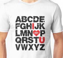 ABCD I love U Ed sheeran Unisex T-Shirt