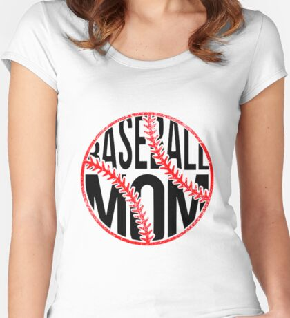 Baseball Mom  Women's Fitted Scoop T-Shirt