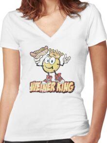 Weiner King T- shirt Women's Fitted V-Neck T-Shirt
