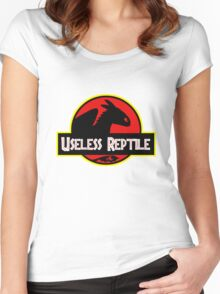 "Jurasic Park Funny ''Useless Reptile"" Women's Fitted Scoop T-Shirt"