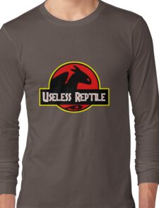 "Jurasic Park Funny ''Useless Reptile"" Long Sleeve T-Shirt"