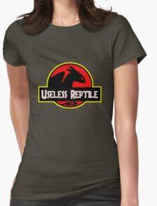 "Jurasic Park Funny ''Useless Reptile"" Womens Fitted T-Shirt"