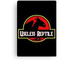 "Jurasic Park Funny ''Useless Reptile"" Canvas Print"