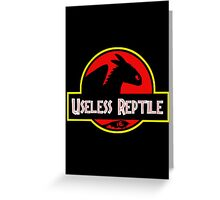 "Jurasic Park Funny ''Useless Reptile"" Greeting Card"