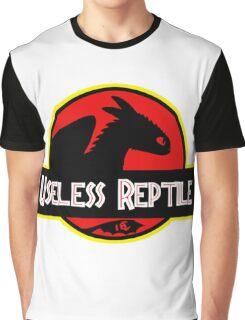 "Jurasic Park Funny ''Useless Reptile"" Graphic T-Shirt"