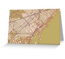 Barcelona Map (Autumn) Greeting Card