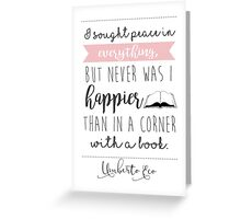 happy (white) Greeting Card