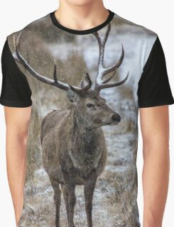 Twelve Point Stag in the Snow Graphic T-Shirt