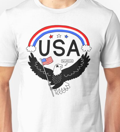 FOURTH OF JULY EAGLE Unisex T-Shirt