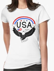 FOURTH OF JULY EAGLE Womens Fitted T-Shirt