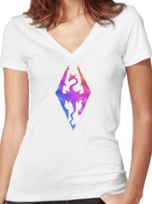 Skyrim Aroura Women's Fitted V-Neck T-Shirt
