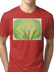 White Lilies Green and Fresh Tri-blend T-Shirt