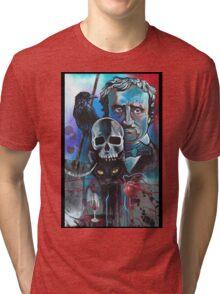 EDGAR ALLEN POE COLLAGE OF STORIES Tri-blend T-Shirt
