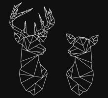 Geometric Stag and Doe One Piece - Short Sleeve
