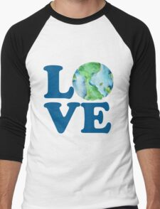Earth Day Love Men's Baseball ¾ T-Shirt