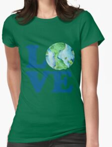Earth Day Love Womens Fitted T-Shirt