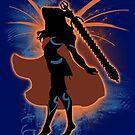 Super Smash Bros. Orange Female Corrin Silhouette by jewlecho