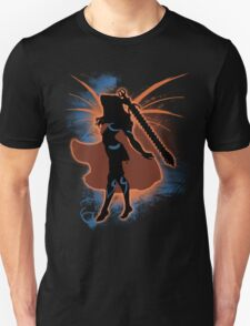 Super Smash Bros. Orange Female Corrin Silhouette T-Shirt