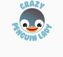 Crazy penguin lady (new in a Circle) Womens Fitted T-Shirt