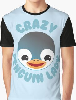 Crazy penguin lady (new in a Circle) Graphic T-Shirt