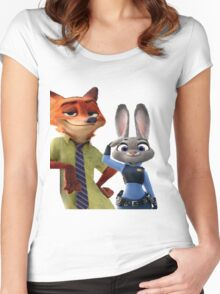 Zootopia Salute Women's Fitted Scoop T-Shirt