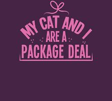 My cat and I are a package deal Womens Fitted T-Shirt