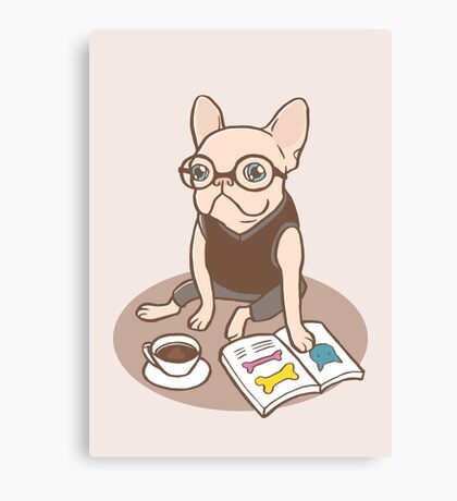 The Hipster Reader Canvas Print