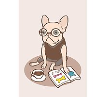 The Hipster Reader Photographic Print