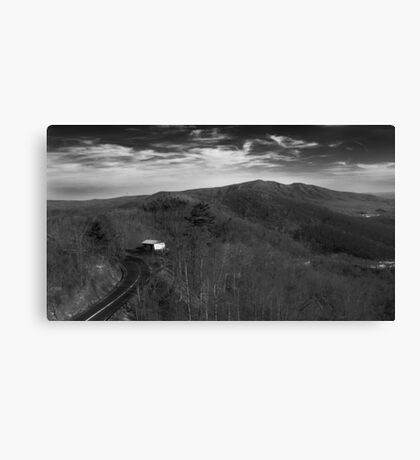 Skylines on Skylines on Mountains on Shacks on Roads Canvas Print