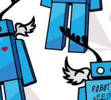 Robots Need Love Two Sticker