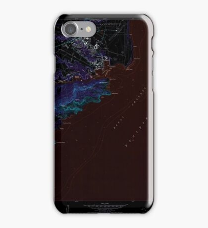 USGS TOPO Map Hawaii HI Lihue 349522 1983 24000 Inverted iPhone Case/Skin