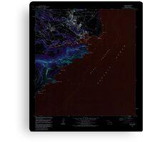 USGS TOPO Map Hawaii HI Lihue 349522 1983 24000 Inverted Canvas Print