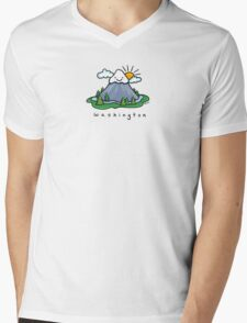 Washington Mens V-Neck T-Shirt