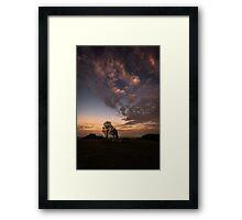 Dusk, Cissbury Ring Framed Print
