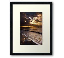 Sunset Fiji Beach Framed Print