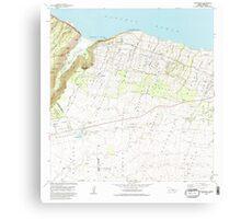 USGS TOPO Map Hawaii HI Kukuihaele 349509 1982 24000 Canvas Print