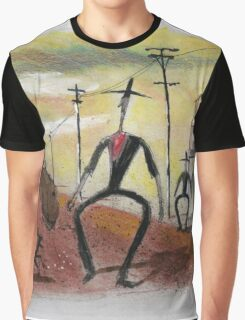 Too long in the saddle. Cowboy cartoon by Al Benge Graphic T-Shirt