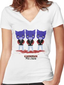 Caravan Palace - Lone Digger Women's Fitted V-Neck T-Shirt