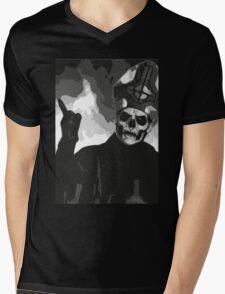 Papa Emeritus II - Black & White Mens V-Neck T-Shirt