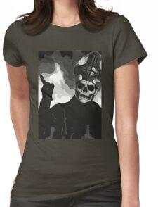 Papa Emeritus II - Black & White Womens Fitted T-Shirt