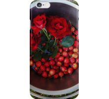 Autumn harvest with roses and crabapples iPhone Case/Skin