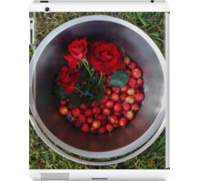 Autumn harvest with roses and crabapples iPad Case/Skin