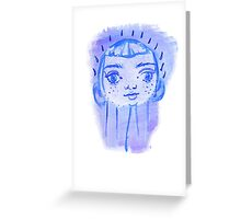 Floating Baby Face Greeting Card