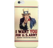 Uncle Sam: I want you... iPhone Case/Skin